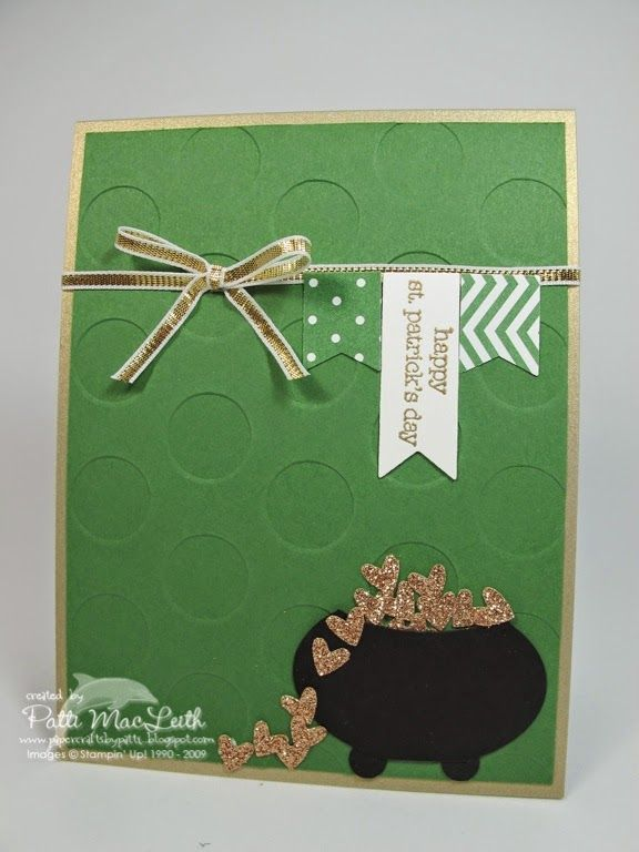 Papercrafts by Patti: Pot of Gold Hearts for PPA242 Color Challenge