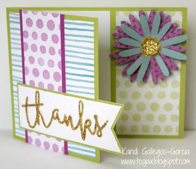 "teojax: ""Thanks"" card with no stamping - close up, CTMH, Close to My Heart, Whimsy Fundamentals, Thin Cuts, Cricut Flower Market, teojax"