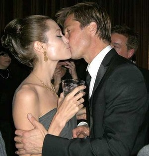 Angelina Jolie and Brad Pitt...can't even be mad because they are both just gorgeous