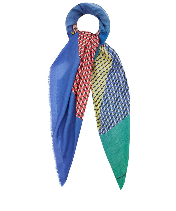 Pierre Hardy Blue Cube Inkjet Cashmere and Silk-Blend Scarf | Accessories |  Liberty.