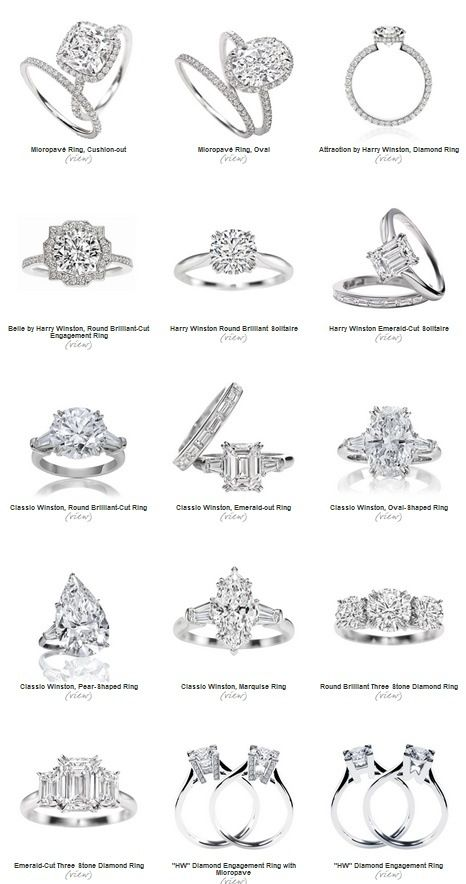 Harry Winston engagement rings!!! Love the three emerald cut!