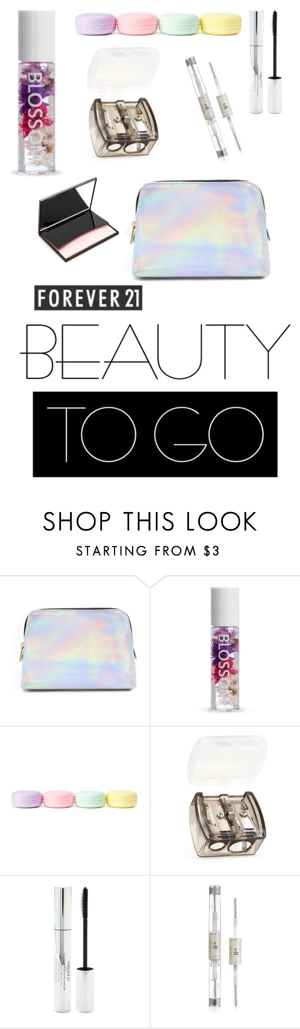 """beauty dupes 7"" by jayajav ❤ liked on Polyvore featuring beauty, Forever 21, makeup, forever21, F21 and togo"