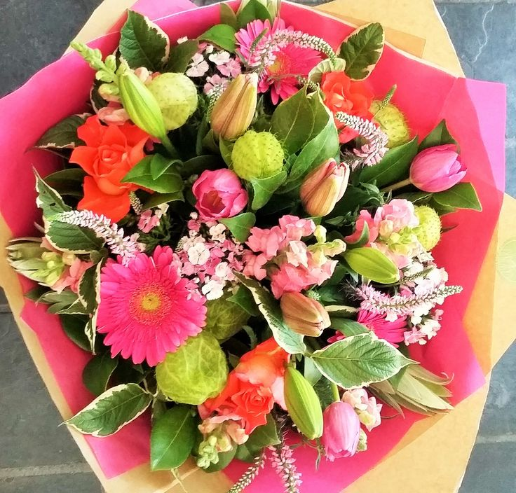 Brighten up Your day! #flowers #pink #orange #tulips #bunch #aspenandco