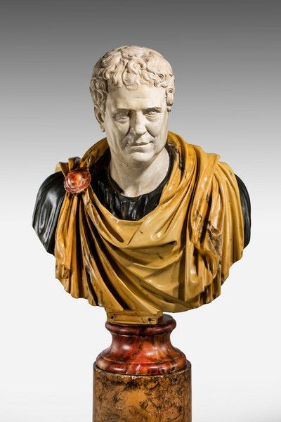 Bust of a Roman politician Tiberius Gracchus. Copy from 1990