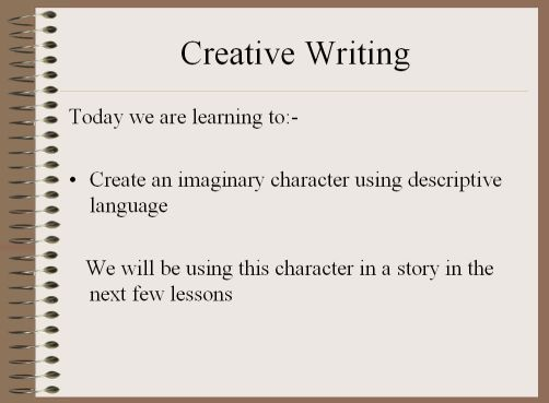 Creative writing primary resources