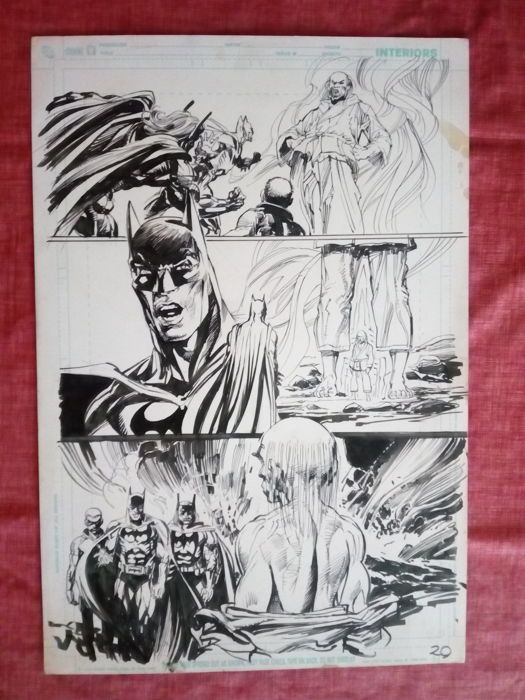 Catawiki online auction house: Original Art Page By Neal Adams - DC Comics - Batman Odyssey #3 - Page 20