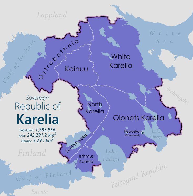 North American Union Map%0A Republic of Karelia