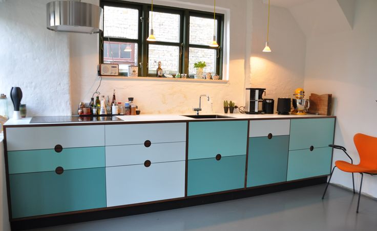 Handmade kitchen. Option for customization. You can choose size, colour and make it to your own personal kitchen. #kitchen #inspiration #personal #colour http://www.kjeldtoft.com/