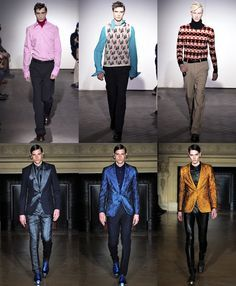 Men's fashion inspired by 1960s and 1970s