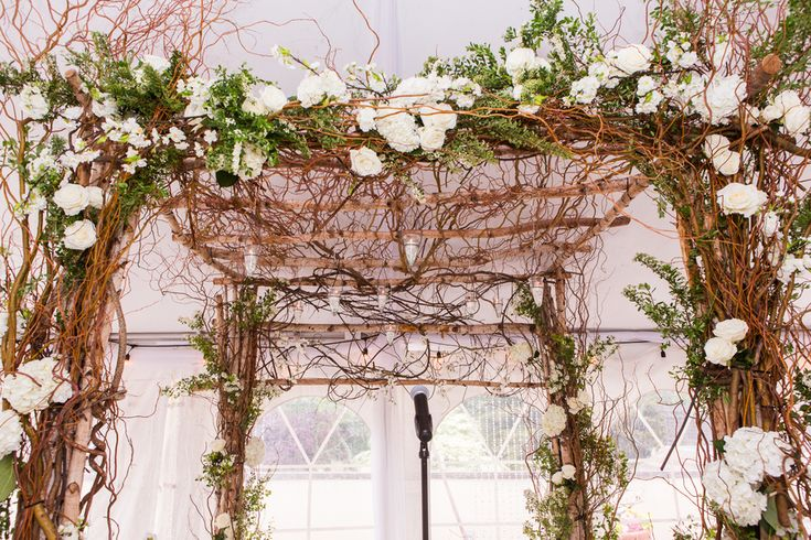 Vine Chuppah; Cold Spring Country Club Wedding, New York - The Coordinated Bride; Sarah Tew Photography