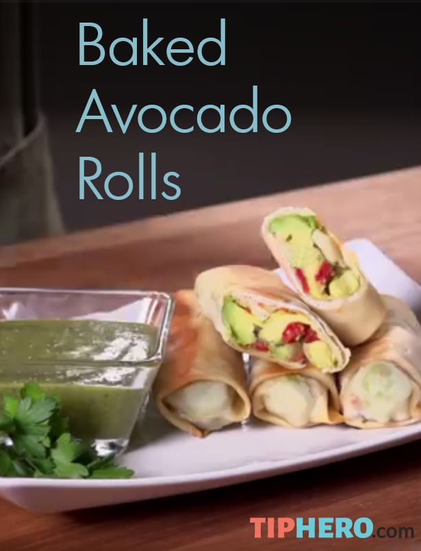 Baked Avocado Rolls Recipe | Here's a simple recipe for a avocado rolls you can make at home. And they are baked, not fried. You'll need egg roll wrappers, onion, sun-dried tomatoes, cilantro, kosher salt, and lime juice to make this side or main dish complete. Click to watch the how-to video. #familydinner