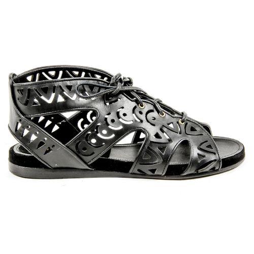 Parrice Womens Lace Up Sandal PS15S2 BLACK