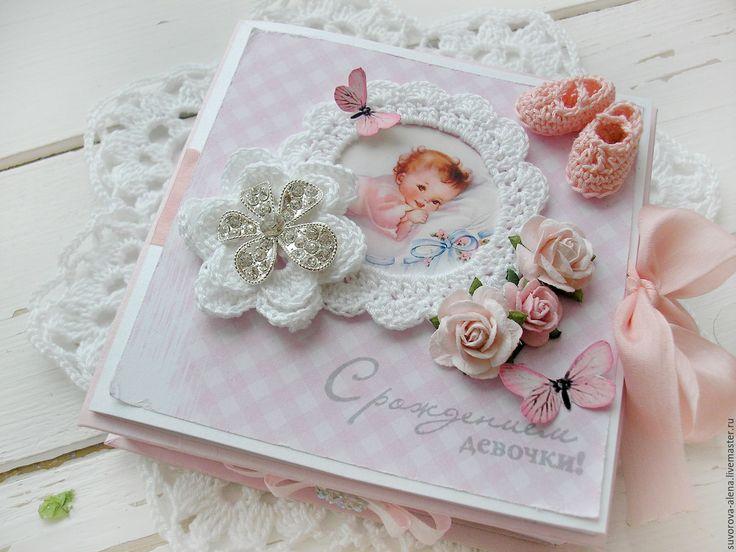 Купить Коробочка-открытка на рождение девочки - розовый, для девочки, подарок для новорожденной, новорожденная, новорожденной девочке