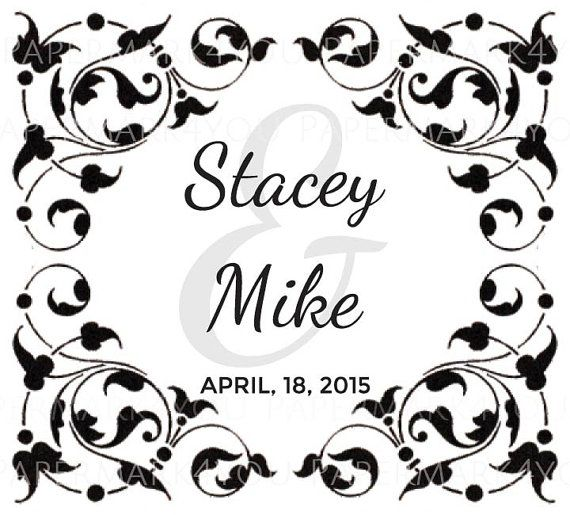 Custom Monogram Flourish Wedding Monogram-Custom by PaperMark4You
