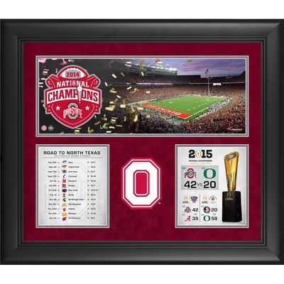"""Ohio State Buckeyes Fanatics Authentic Framed 20"""" x 24"""" 2014 College Football Playoff National Champions Collage - Fanatics.com"""