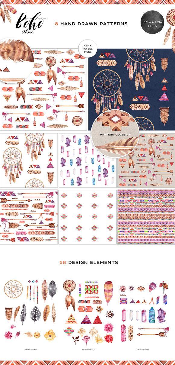 SUPER pretty boho graphic patterns!