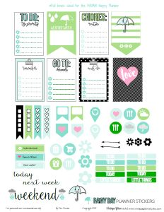 """It's been raining, nearly nonstop in So Cal; so, I was inspired by the weather to create this freebie. Today, I am releasing a planner stickers freebie for the """"Classic"""" Happy Planner. In the last few months, Me and My Big Ideas ( the manufacturer of the Happy Planner) now has three planner sizes available … Continue reading Rainy Day Planner Stickers – Free Printable →"""