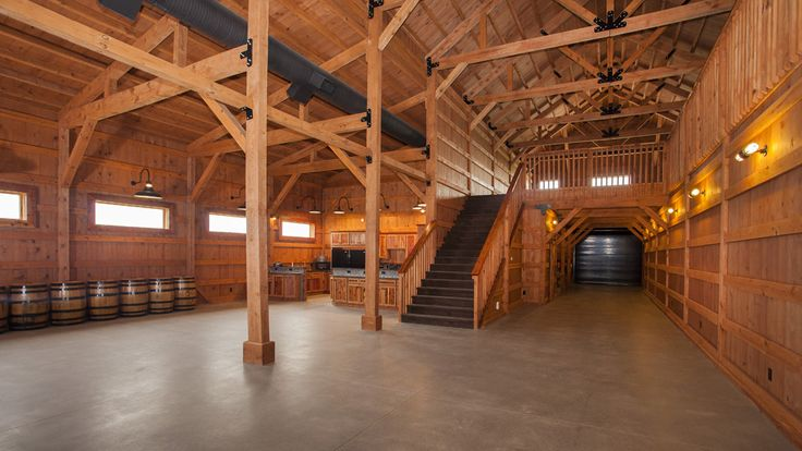 Traditional Post & Beam Party Barn with Open Loft | Sand Creek Post & Beam  https://www.facebook.com/SandCreekPostandBeam?focus_composer=true&ref_type=bookmark