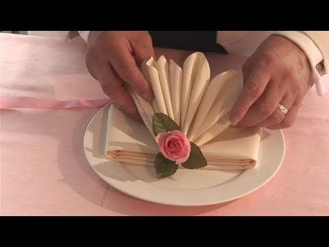 Watch How To Fold Fancy Looking Napkins from the how to specialists. This instructional video will give you helpful instructions to make sure you get good at napkin folding, dining etiquette.