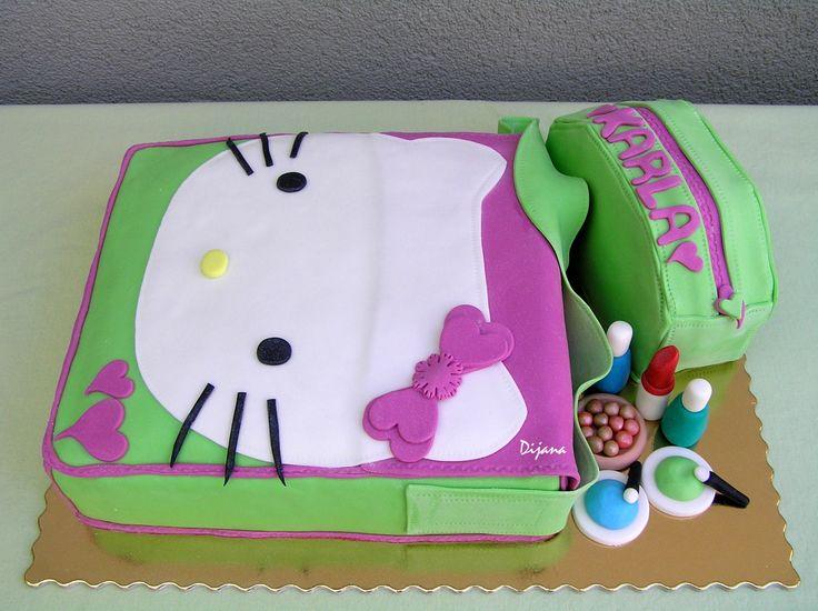 hello kitty cake, bags