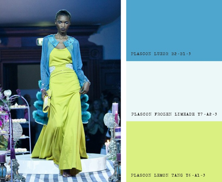 KLuK CGDT Cape Town Fashion Week Show, Colour Inspiration for Blues & Yellow