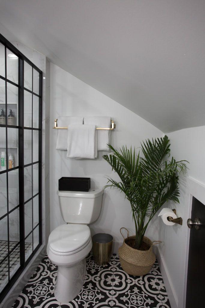 Modern Master Bathroom Reveal Modern Master Bathroom Patterned Bathroom Tiles Traditional Bathroom