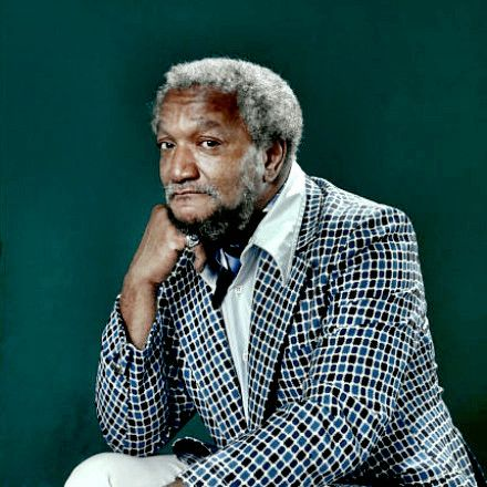 Actor, comedian Red Fox was born today 12-9 in 1922, 91 yrs ago. His birth name? John Elroy Sanford. No surprise his most successful TV role would be on the show Sanford and Son. Red Fox passed in Oct 1991.