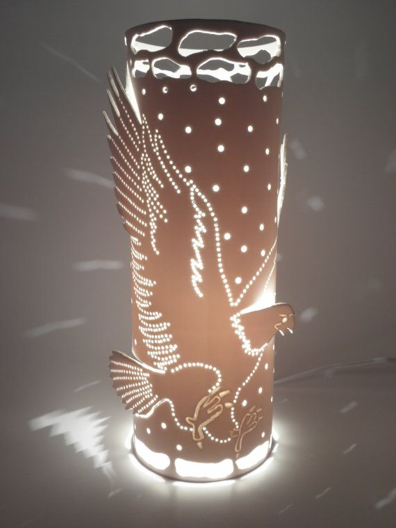 Table eagle lamp accent lamp lighting  eagle bird by GlowingArt