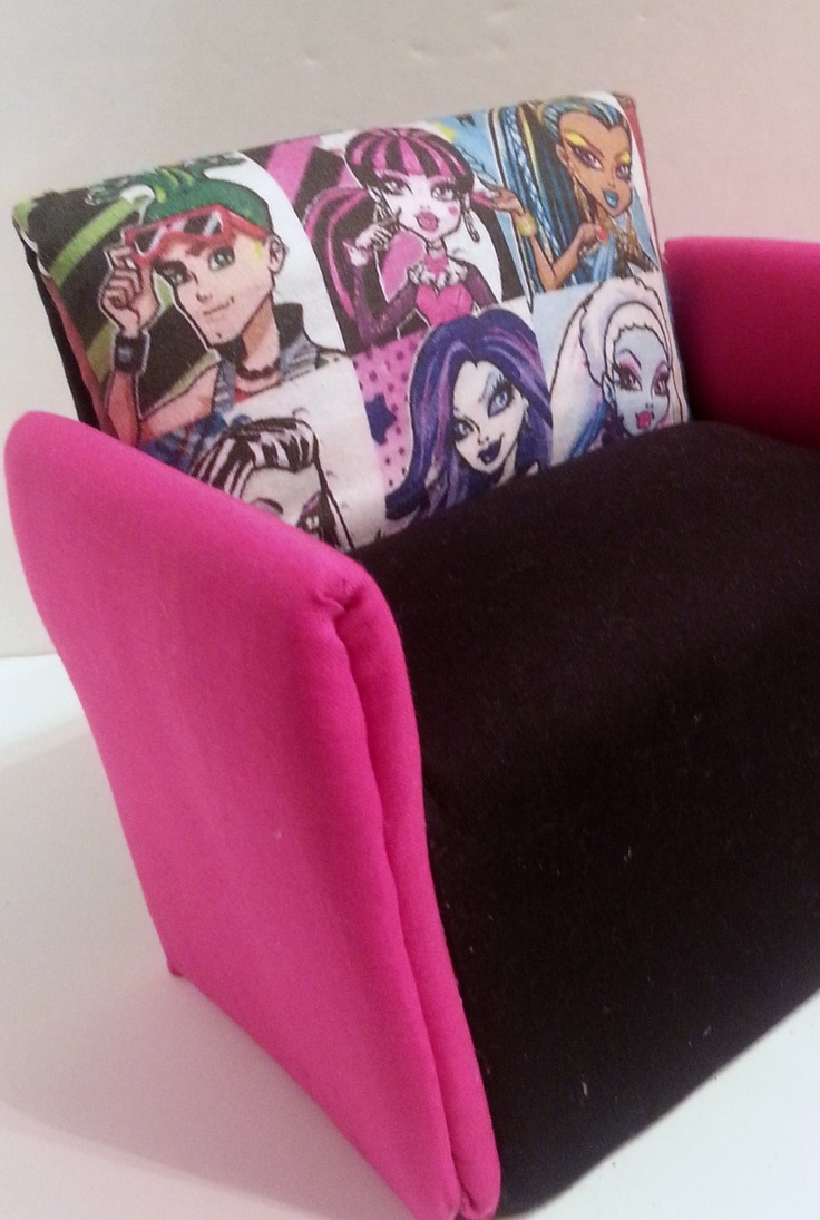 "Sofa - Couch Monster High  ""PRIVATE SALE 4 SOFIA"". $25.00, via Etsy."