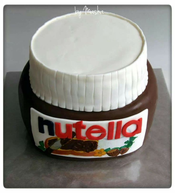 Nutella shaped cake Clever Cakes & Cupcake Ideas ...