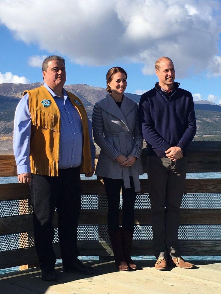 "duchesscatherine-news: "" @emynash: William, Kate and Chief Carvill crossing Lake Bennett, Carcross #royalvisitcanada #RoyalTourCanada """