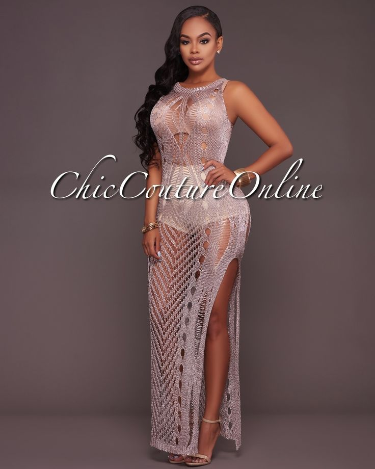 Chic Couture Online - Spring Fling Metallic Mauve Crochet Cover-Up Dress, (http://www.chiccoutureonline.com/spring-fling-metallic-mauve-crochet-cover-up-dress/)