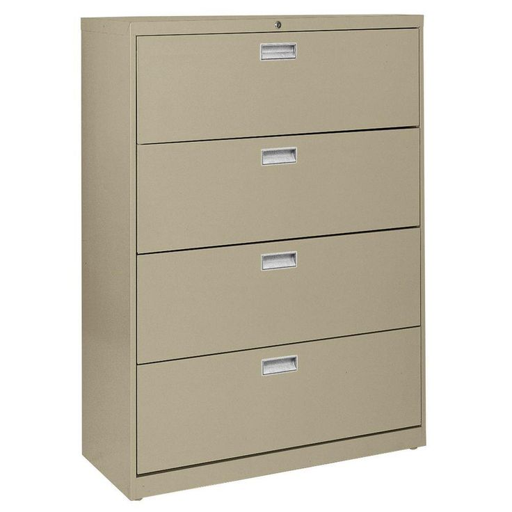 600 Series 42 in. W 4-Drawer Lateral File Cabinet in Tropic Sand