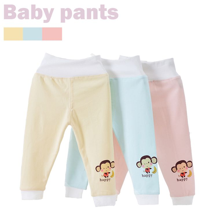 Free Ship 3Pcs Fall Winter Kids Clothes Boy Girl Pajama Pants Baby Infants Cartoon Open Crotch Pants Thickening Bound Feet Pants #Affiliate