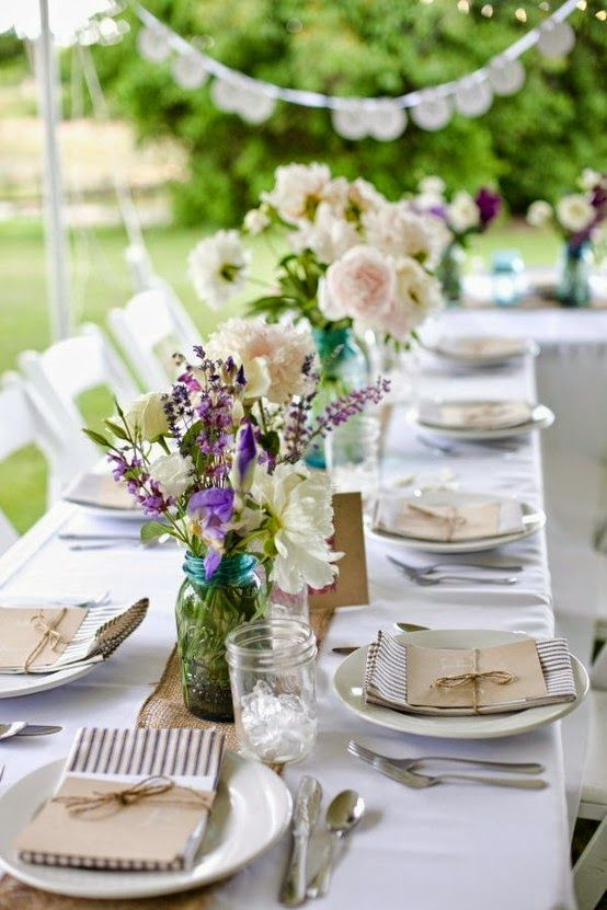 35 best images about wedding table decorations on for Patio table centerpiece ideas