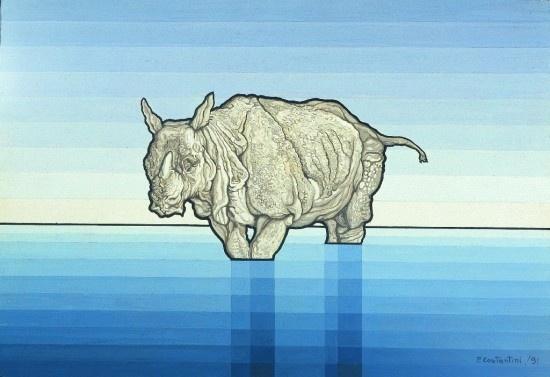 Flavio Costantini, Rinoceronte (1983)