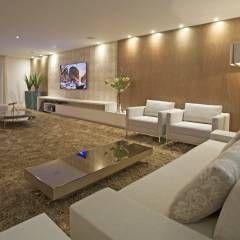 (2014) Residência Barra da Tijuca: Salas de estar Moderno por Escritório Ana Meirelles