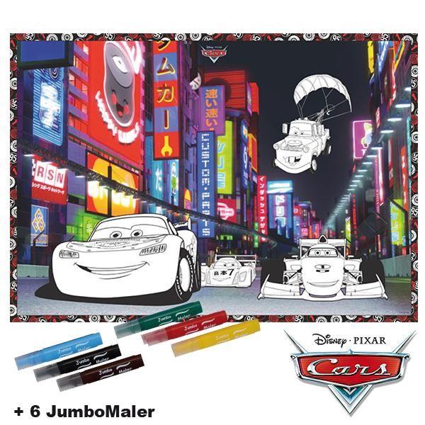 #BoMaBi #Cars Motiv 2 ● Poster 118 x 84 cm zum #ausmalen incl. 6 Jumbomalern ● #Malen, #Spielen, #joyPac®