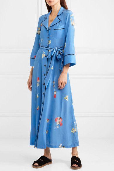 2d925cb1 Multicolored silk crepe de chine Button fastenings through front 100% silk  Dry clean Designer color: Marina Imported