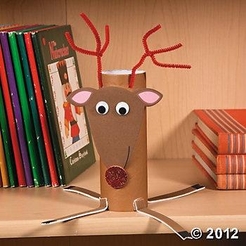 Christmas Reindeer Roll Craft Kit