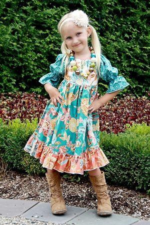 Marissa's Girls Perfect Peasant Dress PDF Pattern