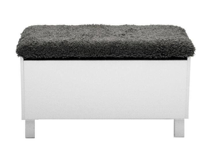 BOX Sittbänk med förvaring Vit i gruppen Inomhus / Förvaring / Hallmöbler hos Furniturebox (10-40-66768)