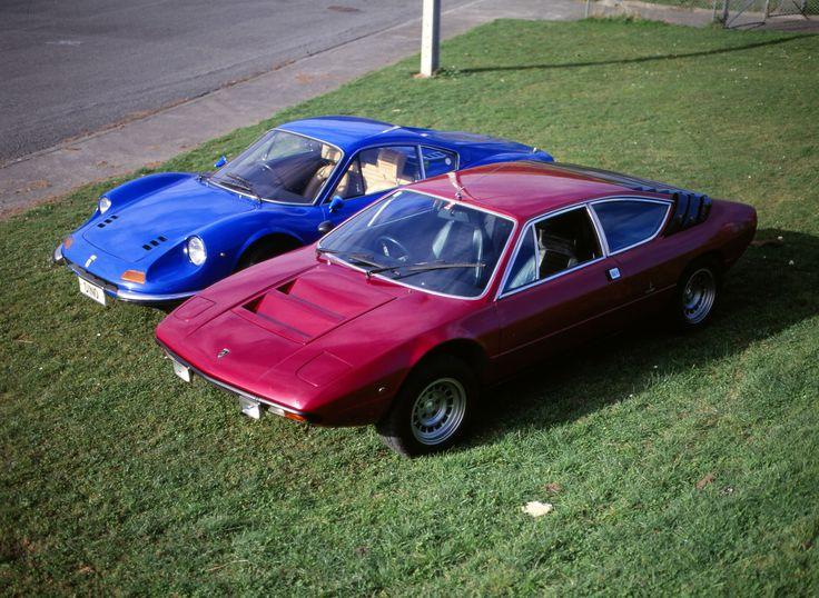Lamborghini Urracco and Ferrari Dino