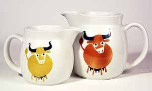 More cow jugs by Arabia and designed by Kaj Frank