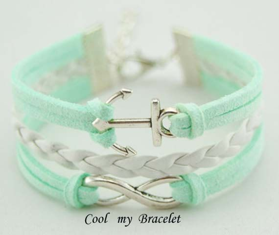 Handwoven personality infinity bracelet anchor by Coolmybracelet, $2.99