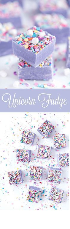 Unicorn Fudge by Sprinkles for Breakfast!! Ah! Cute and delicious!!