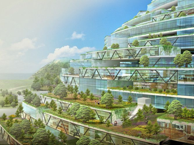 Envisioning The City Of The Future As A Man-Made Island by Dror Benshetrit