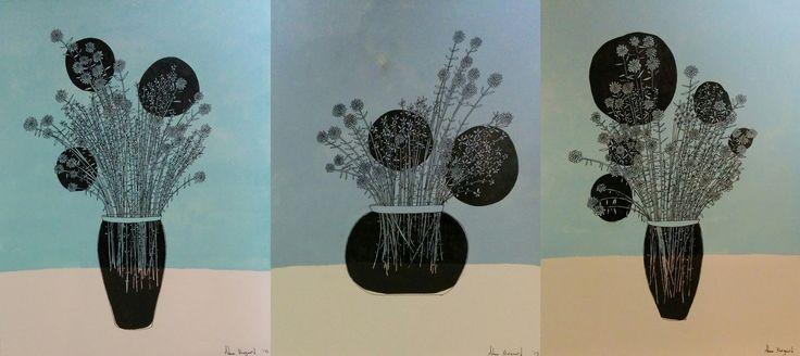 Flower Orbs (triptych)