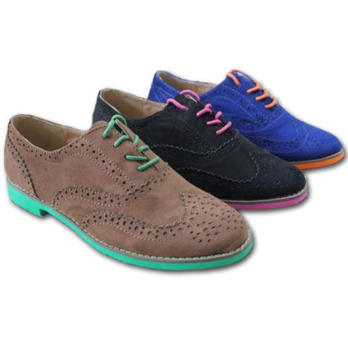 WOMEN new 2014 spring oxfords mix color sole pointed toe loafers unisex  british brogue wingtip oxford