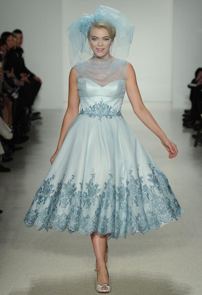 Blue Knee Length Wedding Dress – fashion dresses